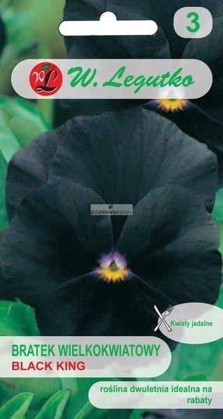 Bratek wielkokwiatowy -  Black King (0,4 g)