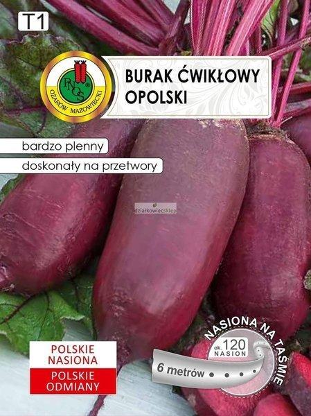 Burak Ćwikłowy Opolski (6 m) - nasiona na taśmie