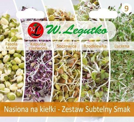 Zestaw Subtelny Smak - nasiona na kiełki
